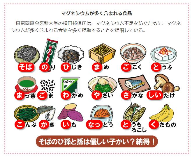 マグネシウムが多い食べ物