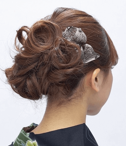 浴衣の髪型ミディアム