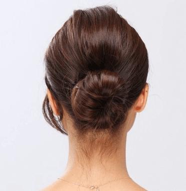 浴衣の髪型 シニヨン